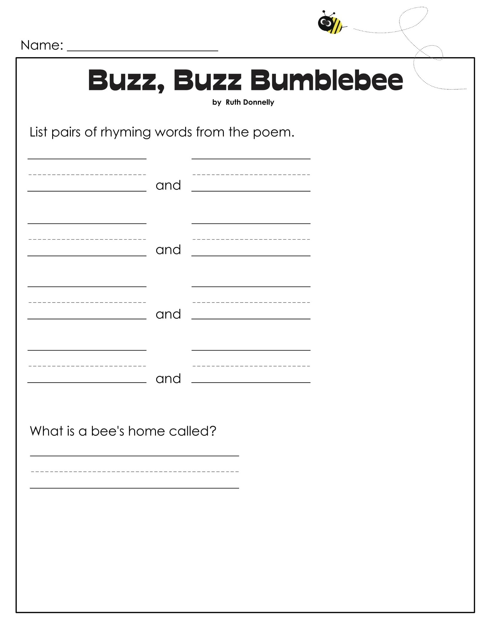 Bumblebee 1st Grade Reading Games 2