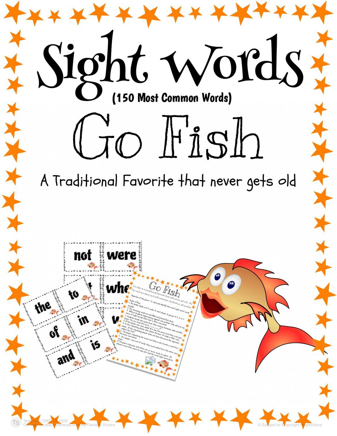 Sight Words Go Fish 01