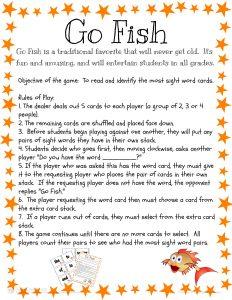 Sight Words Go Fish 02