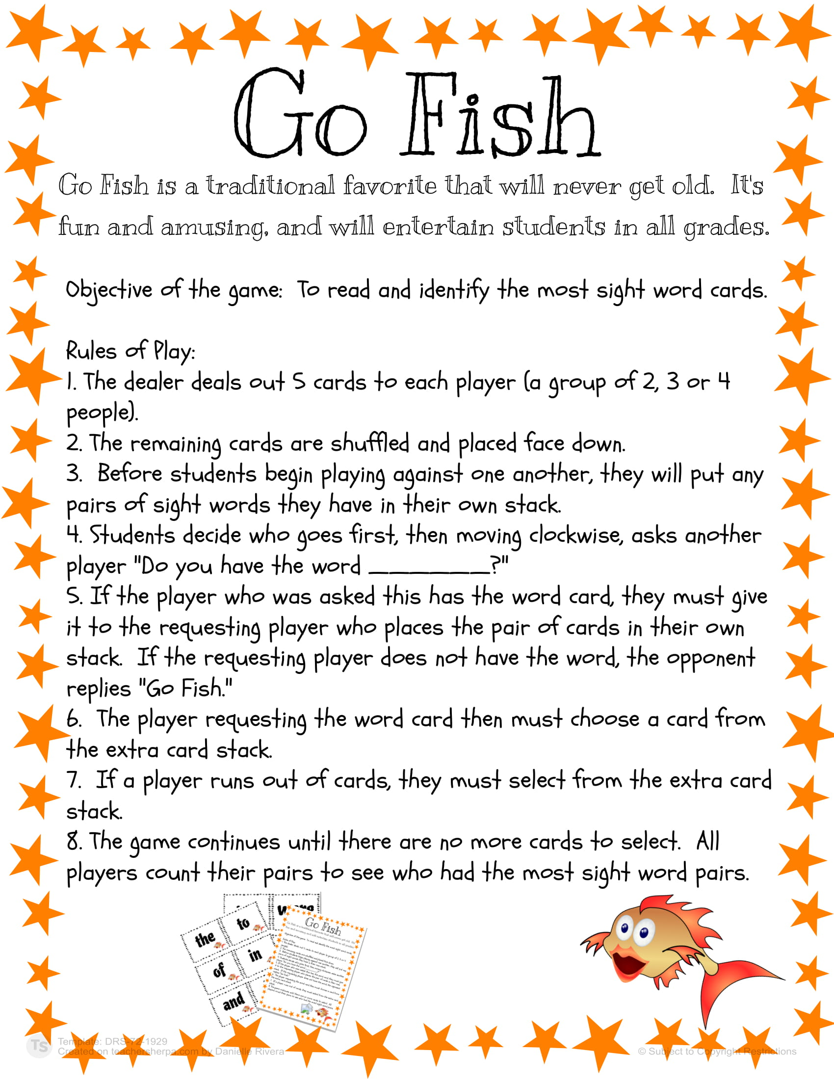 Sight Words Go Fish 02