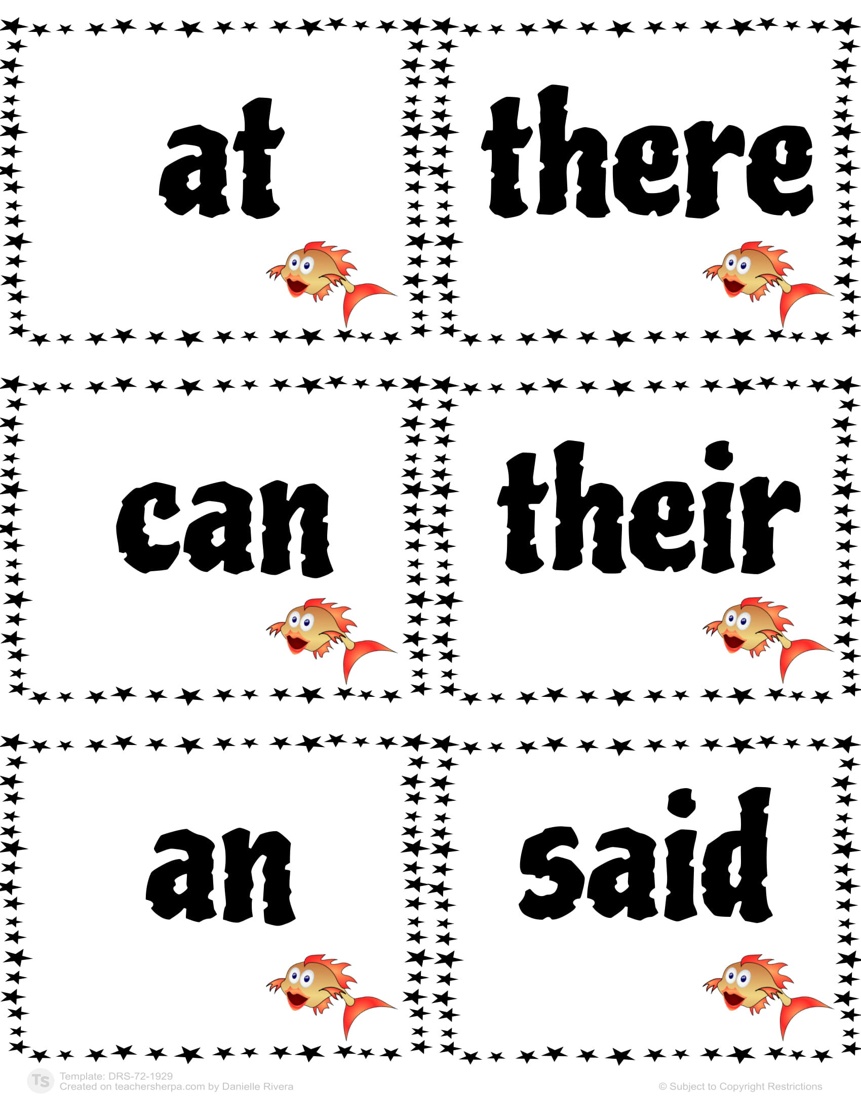 Sight Words Go Fish 12