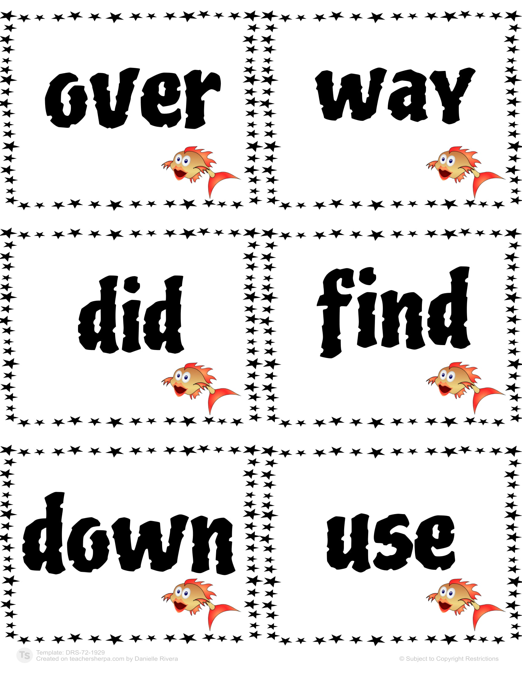 Sight Words Go Fish 42