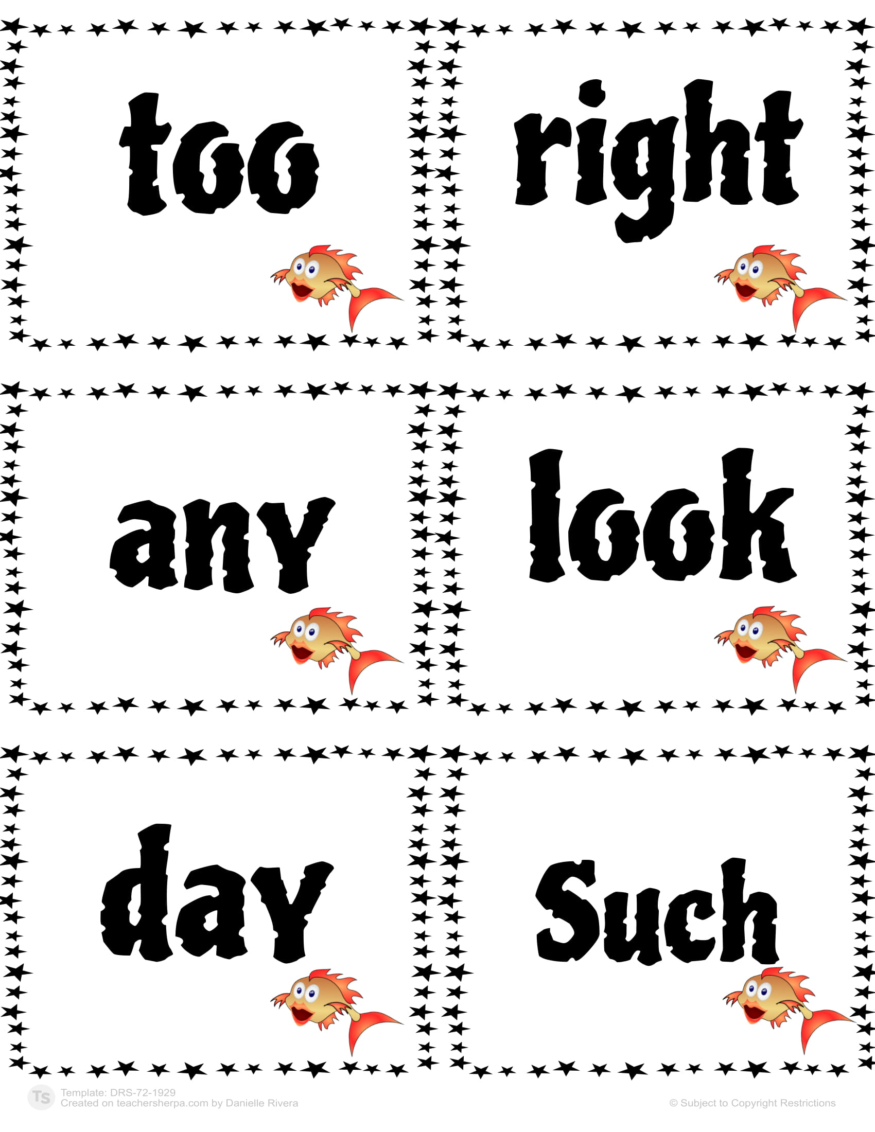 Sight Words Go Fish 47