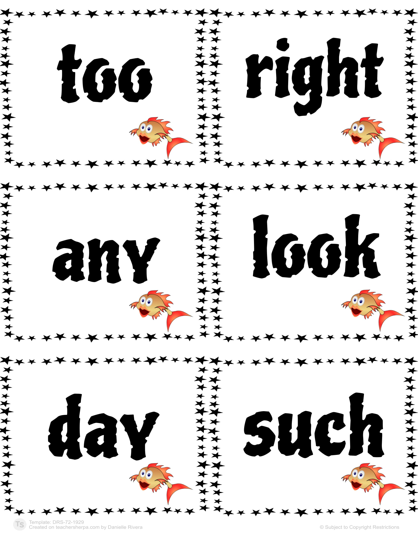 Sight Words Go Fish 48