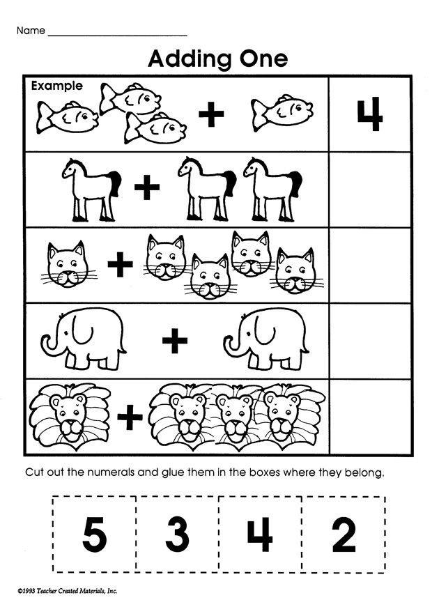 Simple Addition For Kindergarten Worksheets | Worksheet Hero