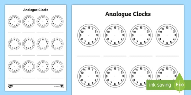 Analogue Clock Patterns