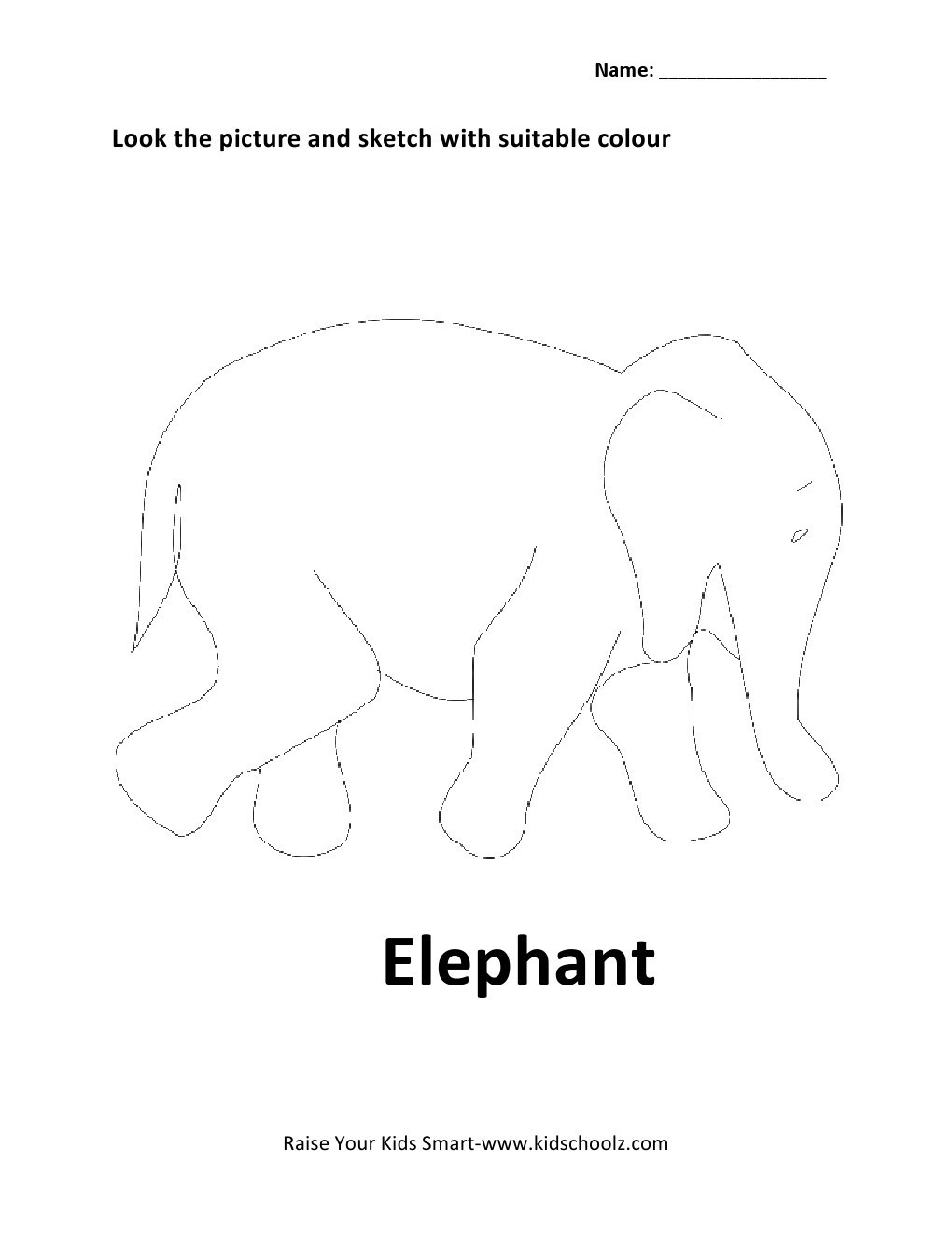 Animals Colouring Worksheets