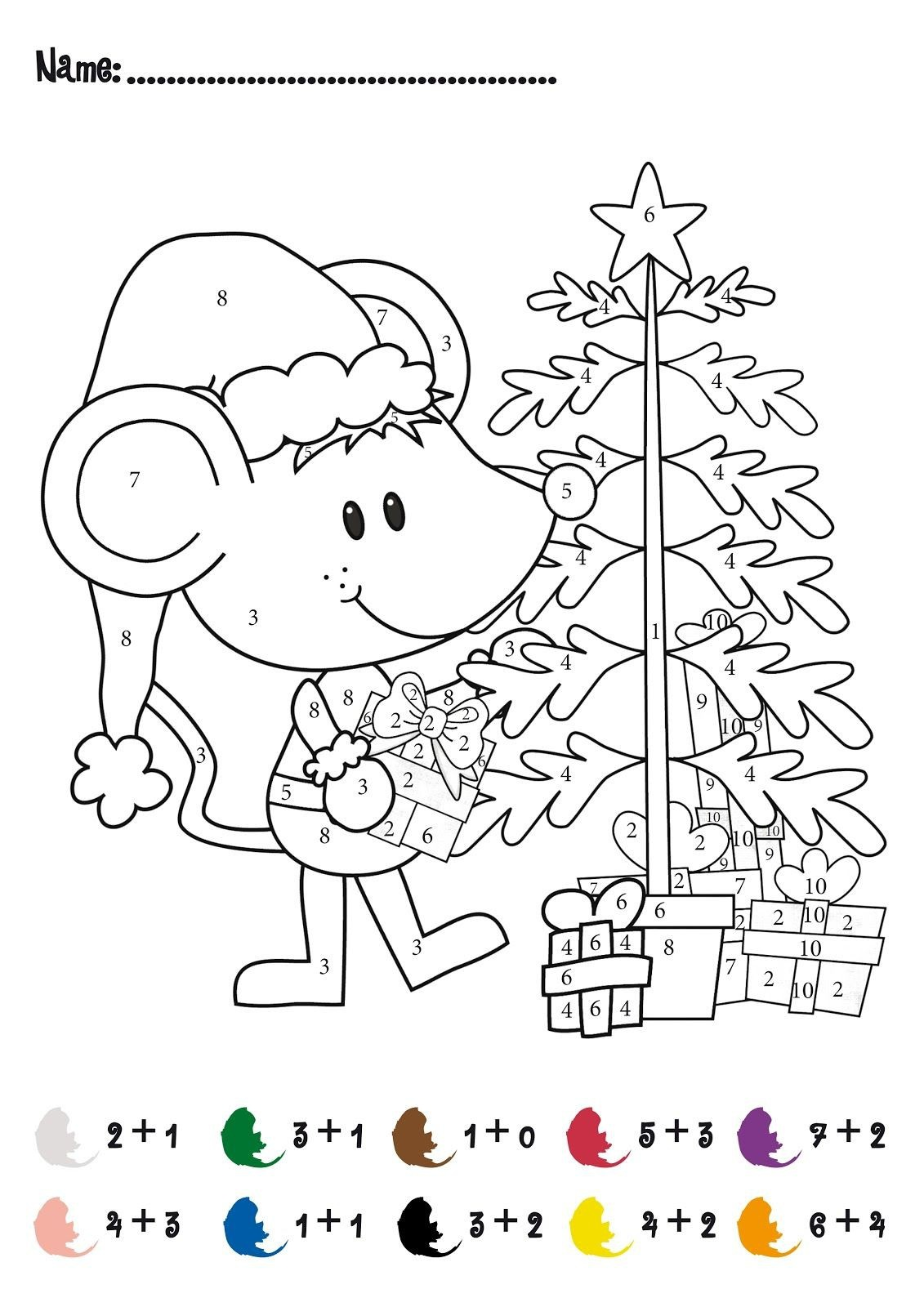 Christmas Addition Math Activity Free For Pre