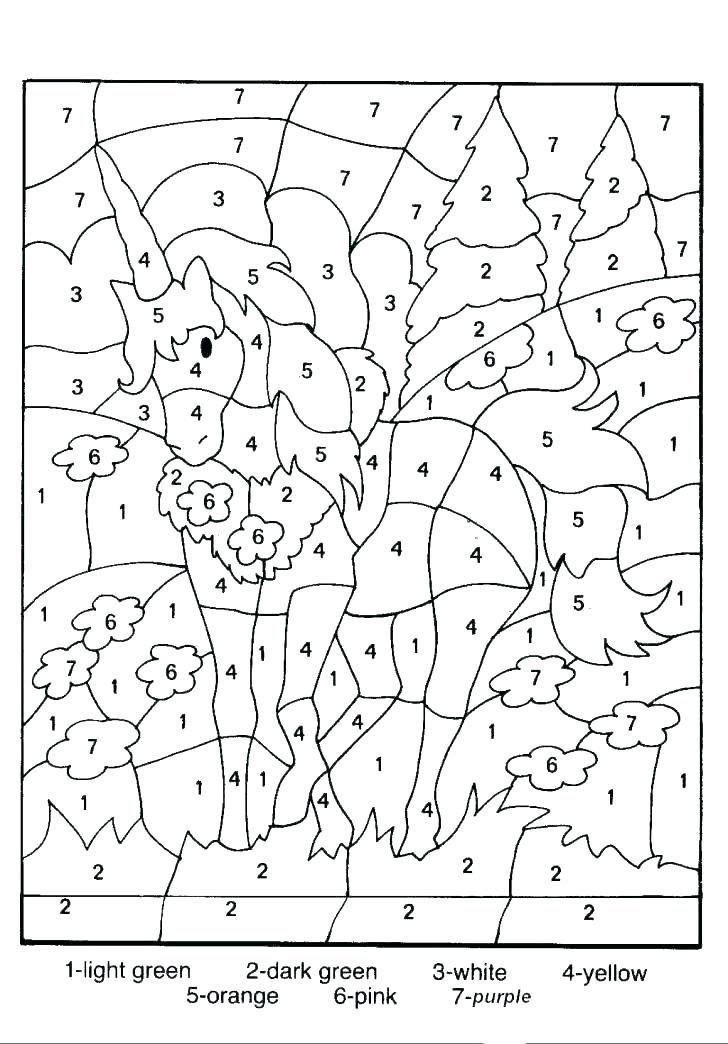 Addition Coloring Page Worksheets   Worksheet Hero