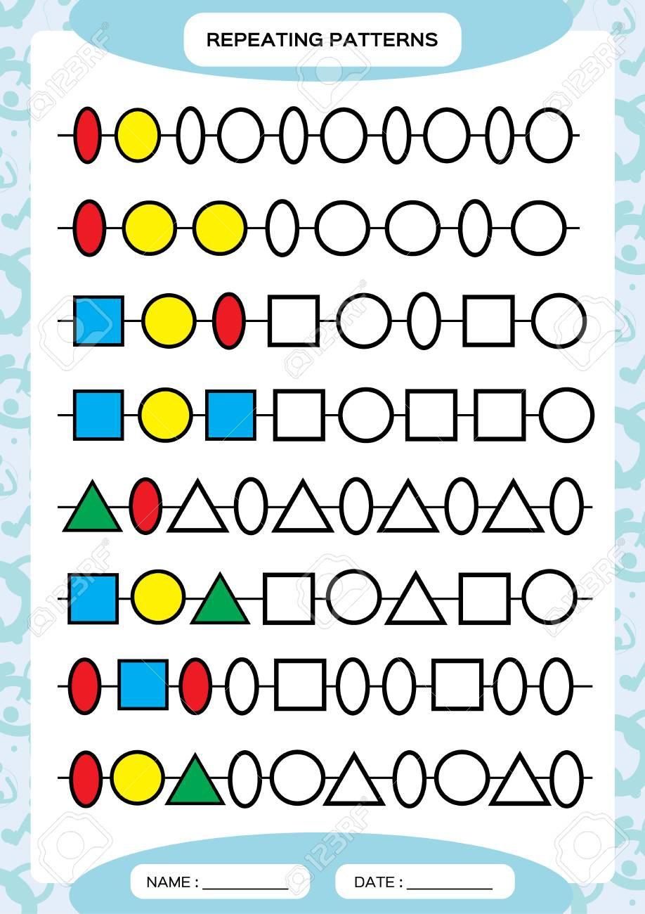 Oval Pattern Worksheets | Worksheet Hero