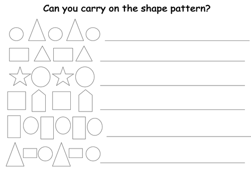 Continuing Shape Patterns