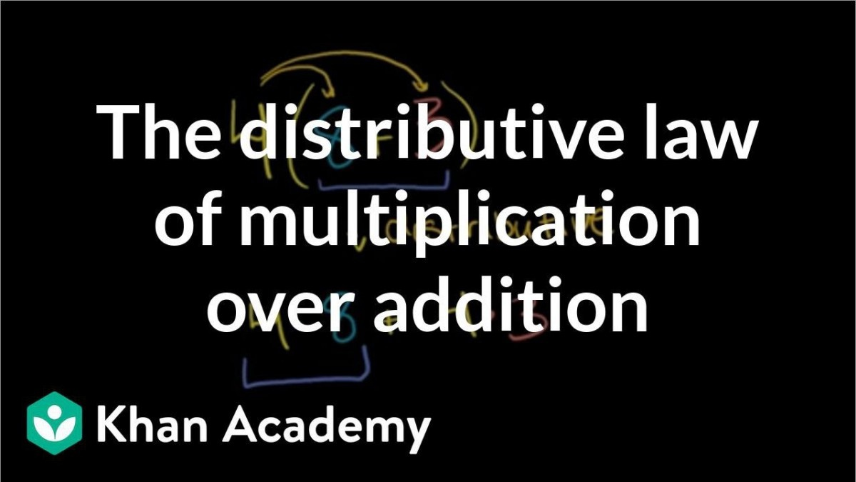 Distributive Property Over Addition Video