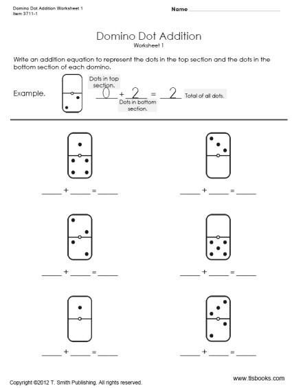Domino Dot Addition Practice
