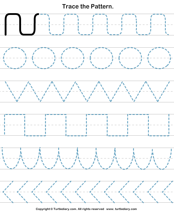 Download And Print Turtle Diarys Pattern Tracing Worksheet Our
