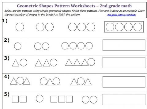 Find The Pattern With Geometric Shapes Worksheet