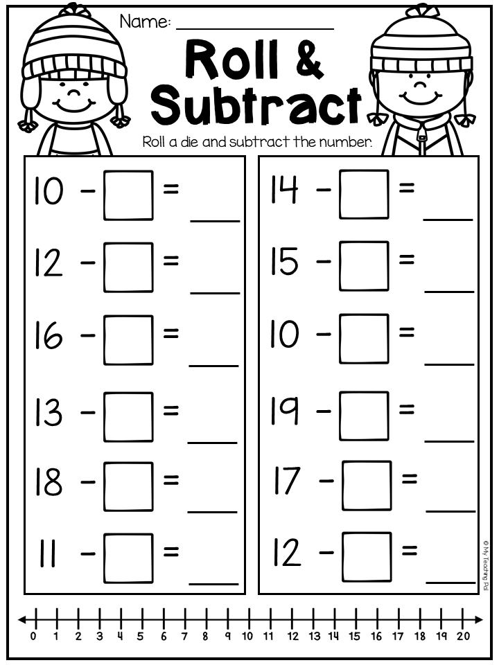 First Grade Addition And Subtraction Worksheets ...