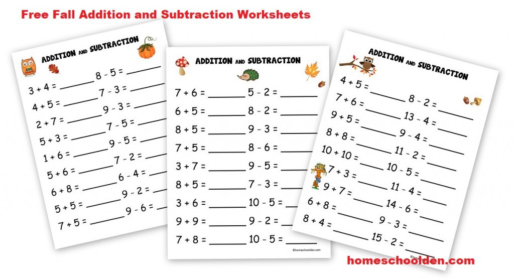 Free Montessori Style Addition Worksheets Double