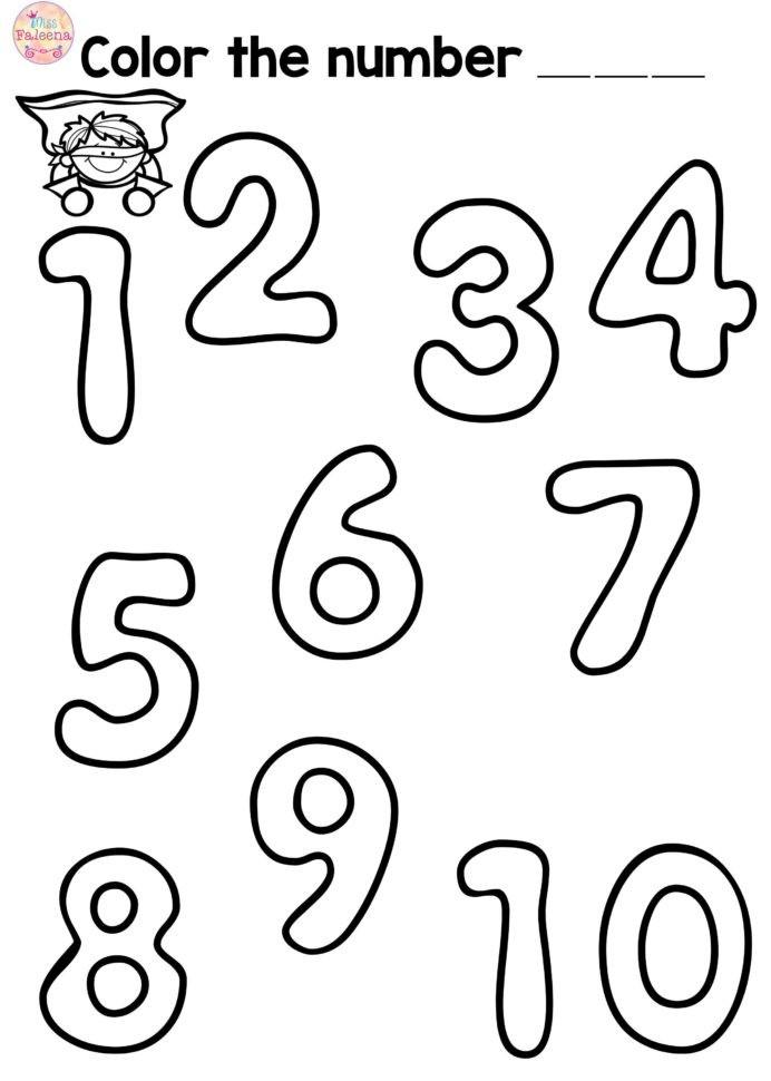 Free Number Practice Kindergarten Freebies First Grade Kinder Math