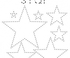 Star Pattern To Trace