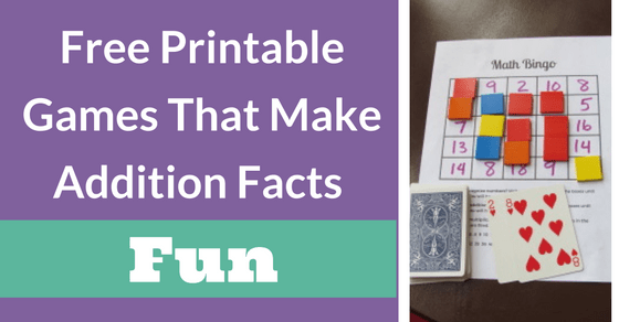 Free Printable Addition Games That Will Make Learning The Facts Fun