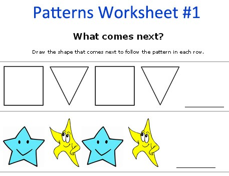 Free Printable Pattern Games  Cool Math Worksheets