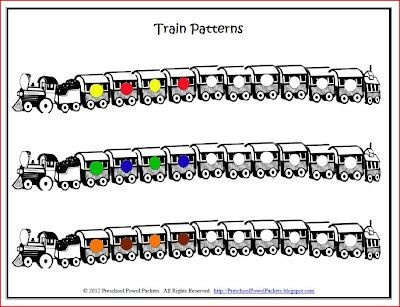 Free Printable Pattern Trains