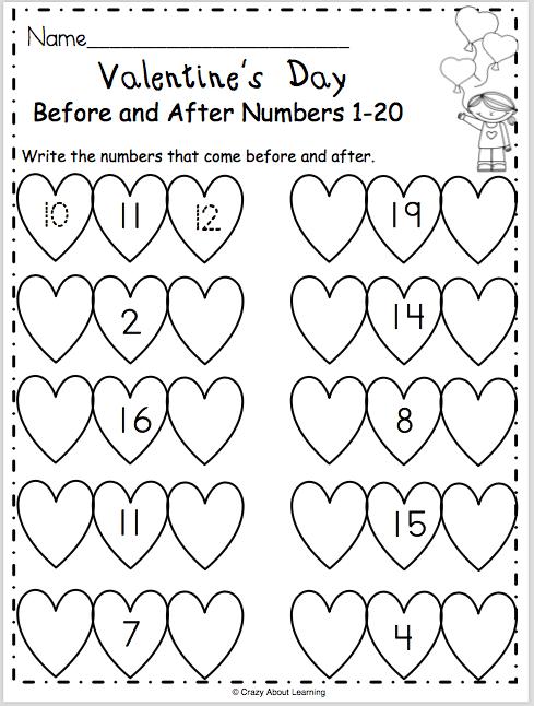 Free Valentines Day Math Worksheet