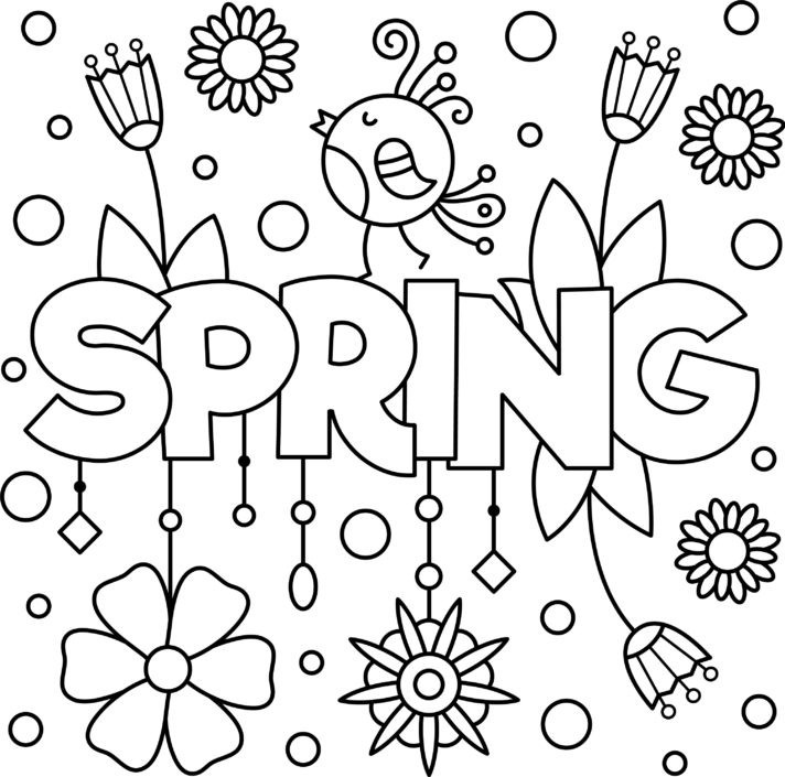 Fun Spring Colouring Printable Thrifty Mommas Tips Pay It Forward