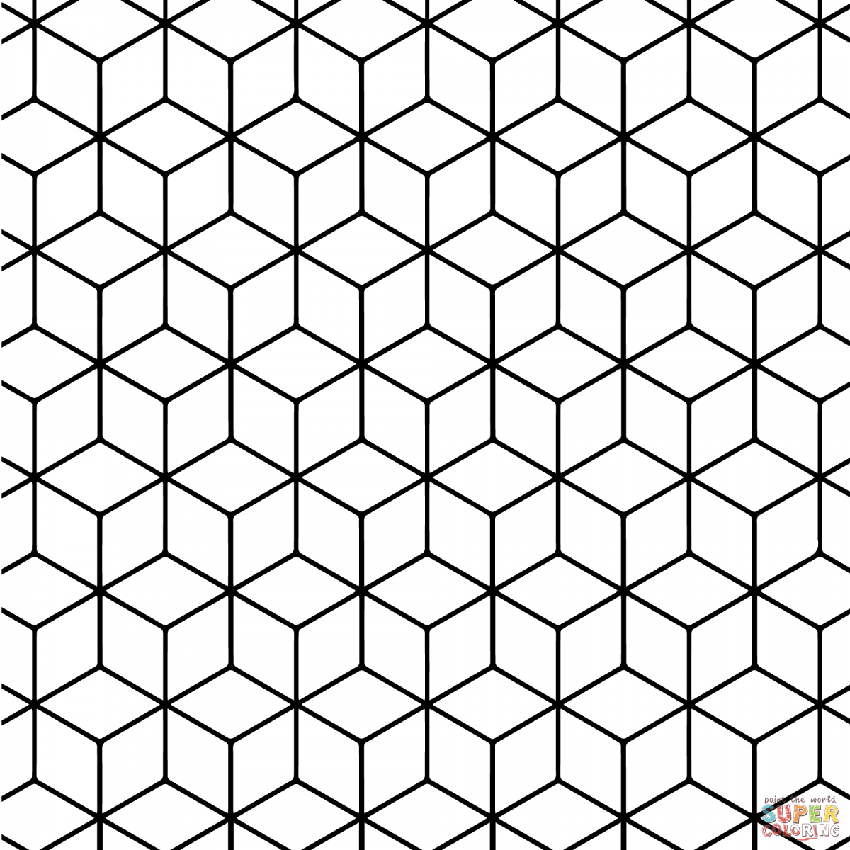 Geometric Tessellations Coloring Pages