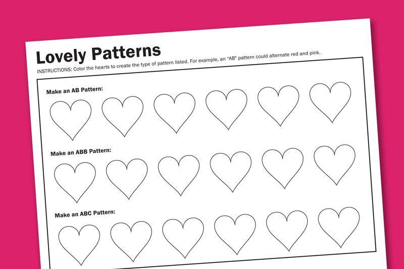 Heart Patterns Free Printable Worksheet From Pagingsupermomcom
