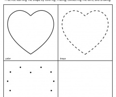 Heart Pattern To Trace