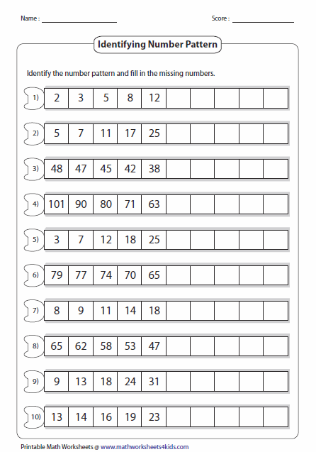 Heres A Site With A Wealth Of Number Pattern Pages