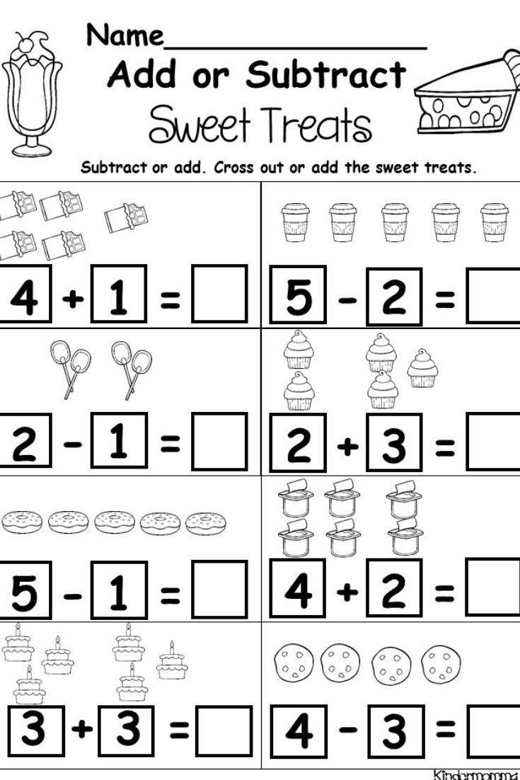 Kindergarten Addition And Subtraction Printables