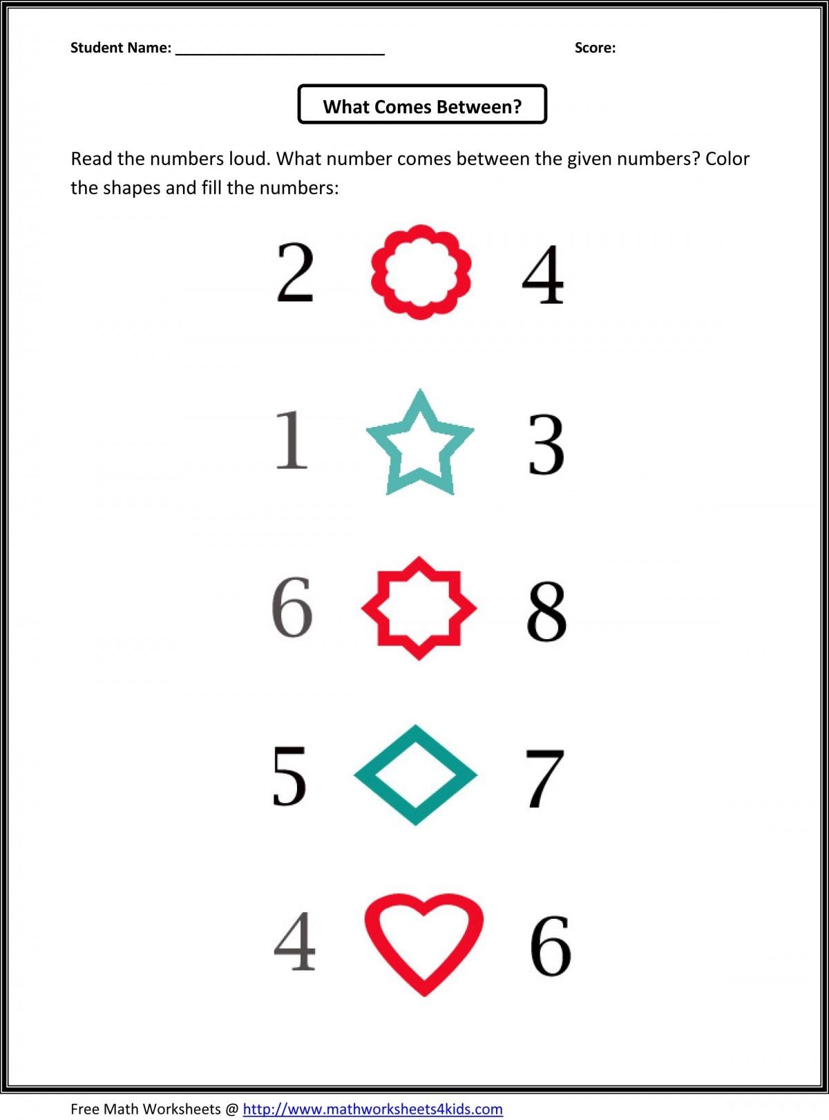 Kindergarten Counting Worksheets