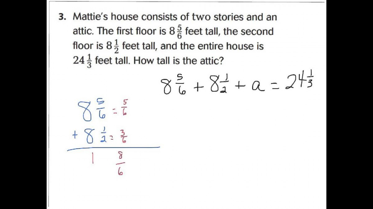 Lesson  Problem Solving Fractions Addition And Subtraction