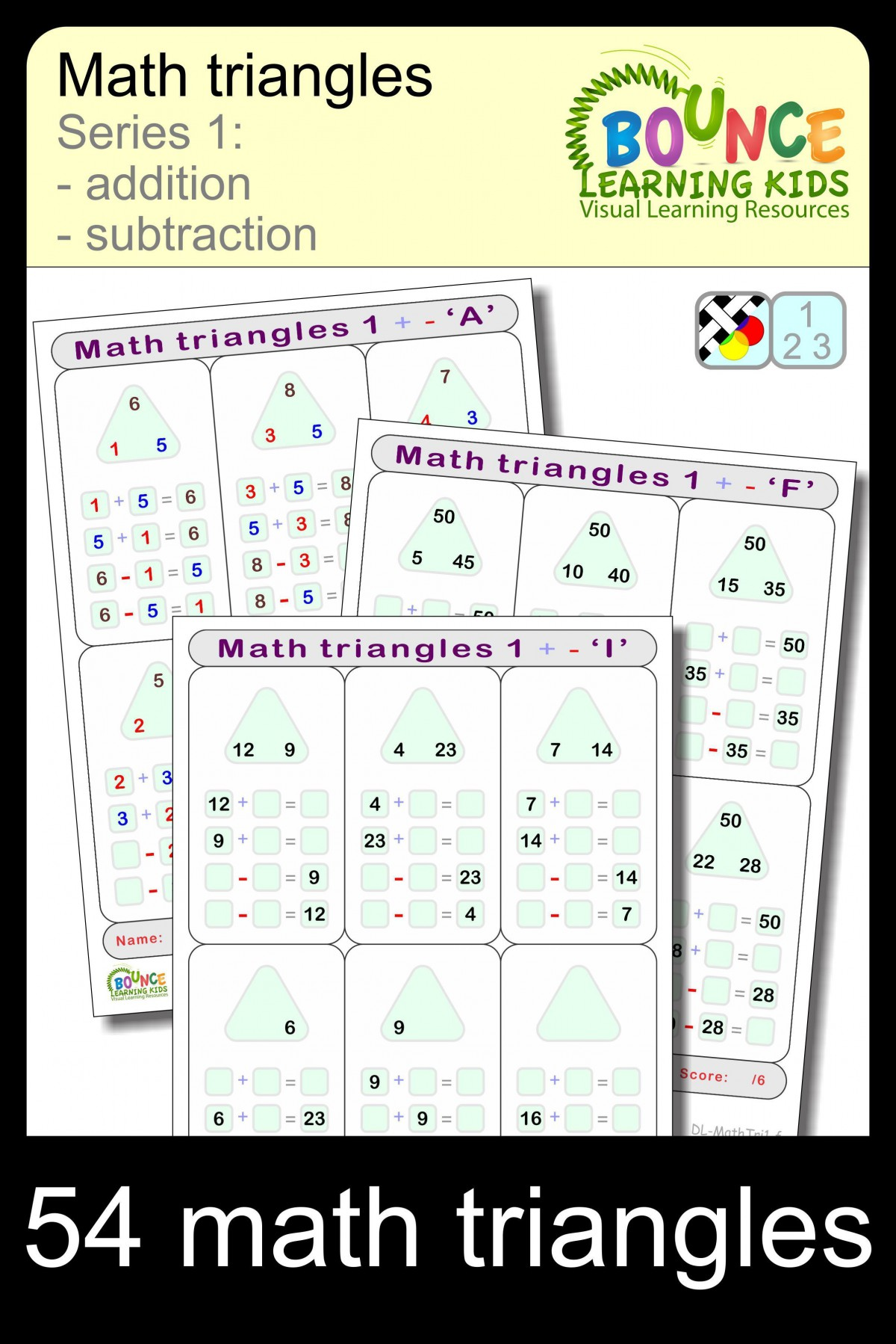 Math Triangles   Numeracy Sheets
