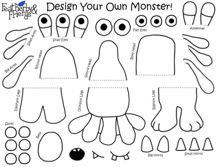 Mix Match Monsters Crochet Patterns Moon Worksheets Middle School