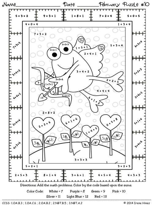 Nd Grade Math Color By Number Coloring Pages