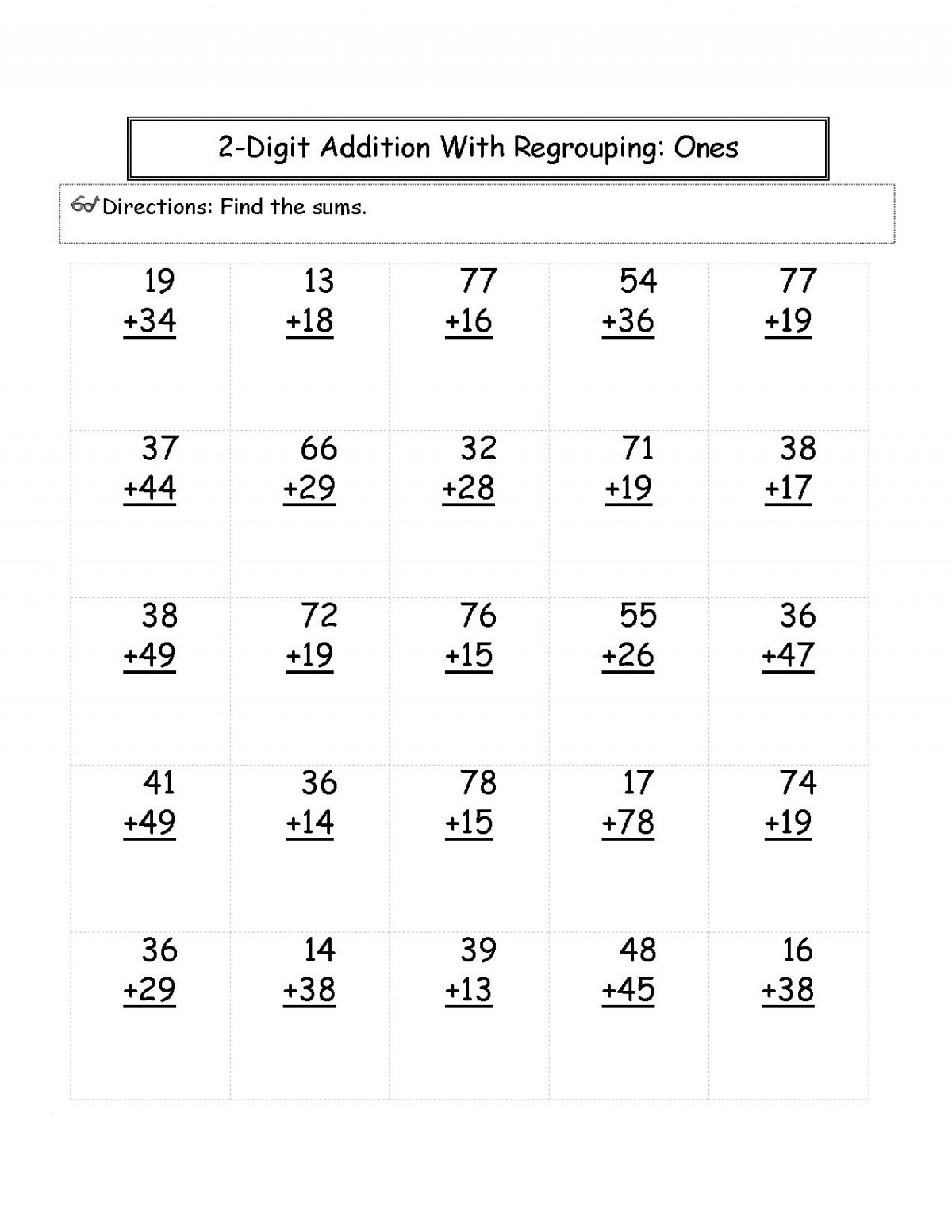 Addition Math For 2nd Grade Worksheets   Worksheet Hero