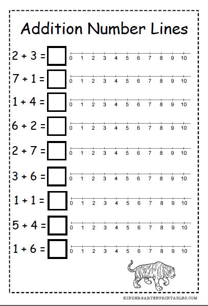 Number Line Addition Worksheets Free Printables