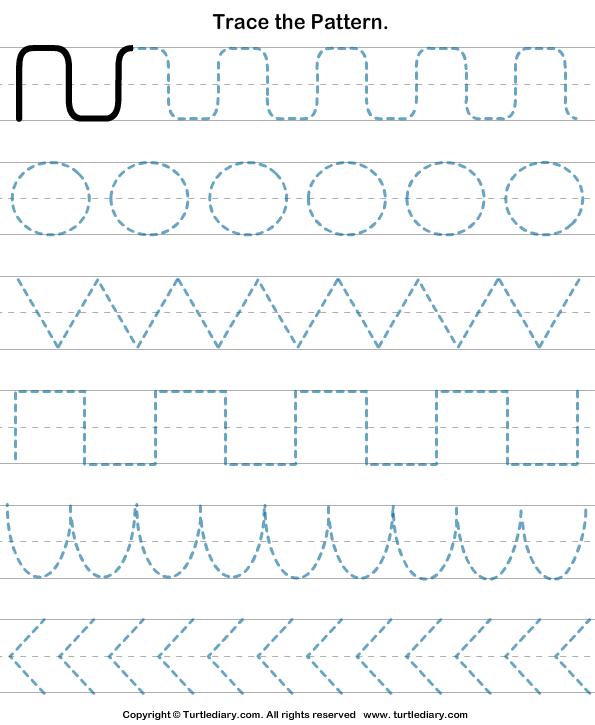 Pattern Tracing Worksheet