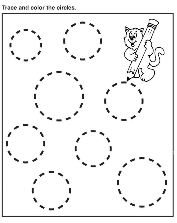 Preschool Tracing Stars Worksheet Printable Worksheets And Number