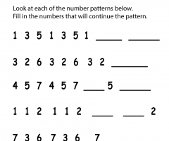 Number Pattern  2nd Grade