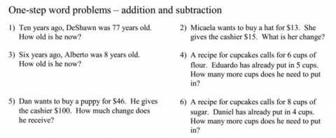 Single Step Equations Word Problems