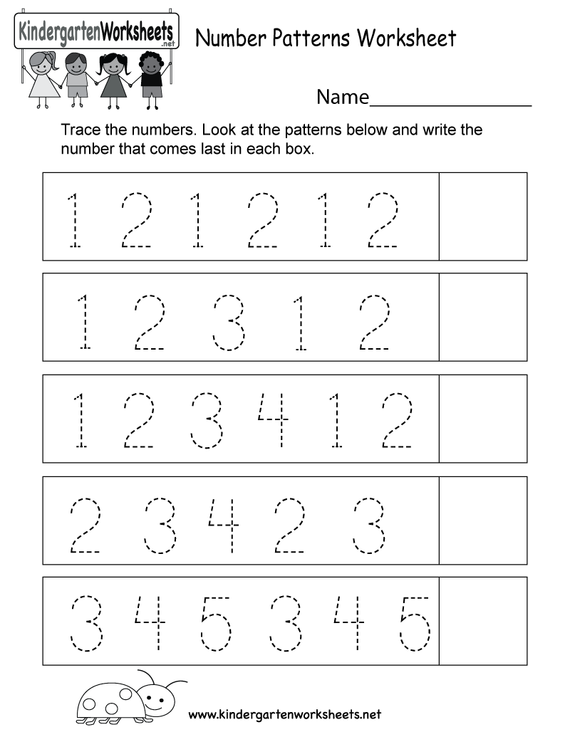 This Is A Number Patterns Worksheet Kids Can Trace The Numbers