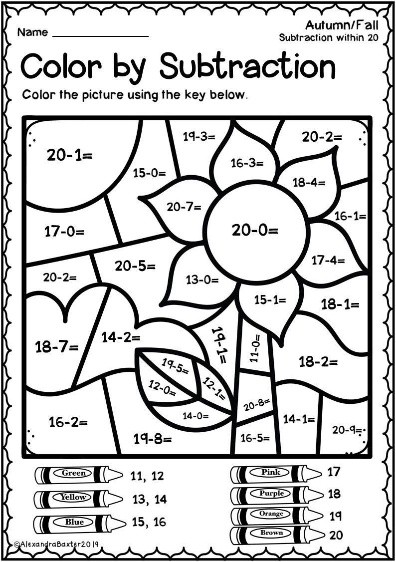This Resource Is A Selection Of Color By Code  Color By Number