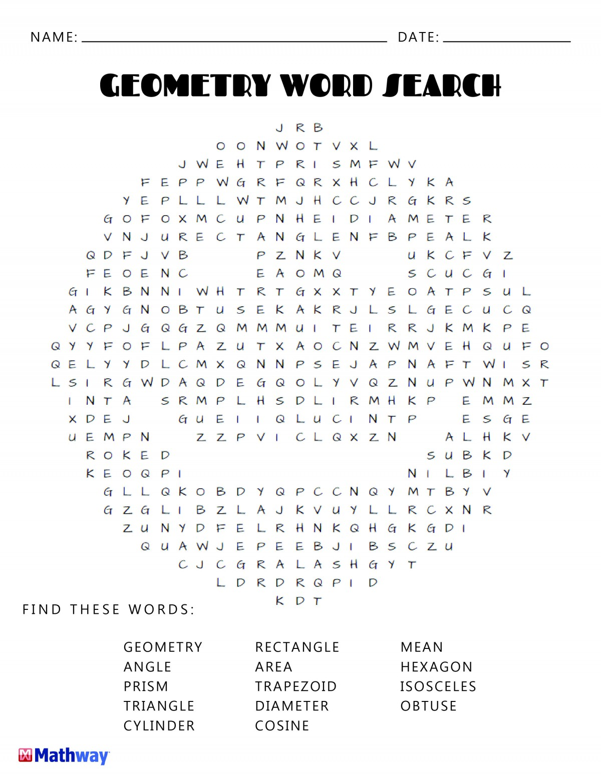 Try Our Geometry Smiley Face Word Search Keep Busy With Our