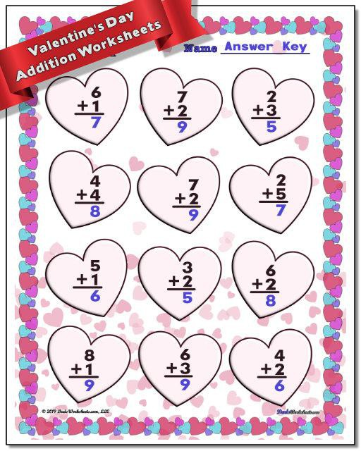 Valentines Day Worksheets To Make Math Fun