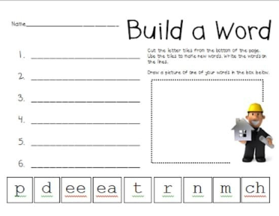 Vowel Pattern Worksheets Free Download