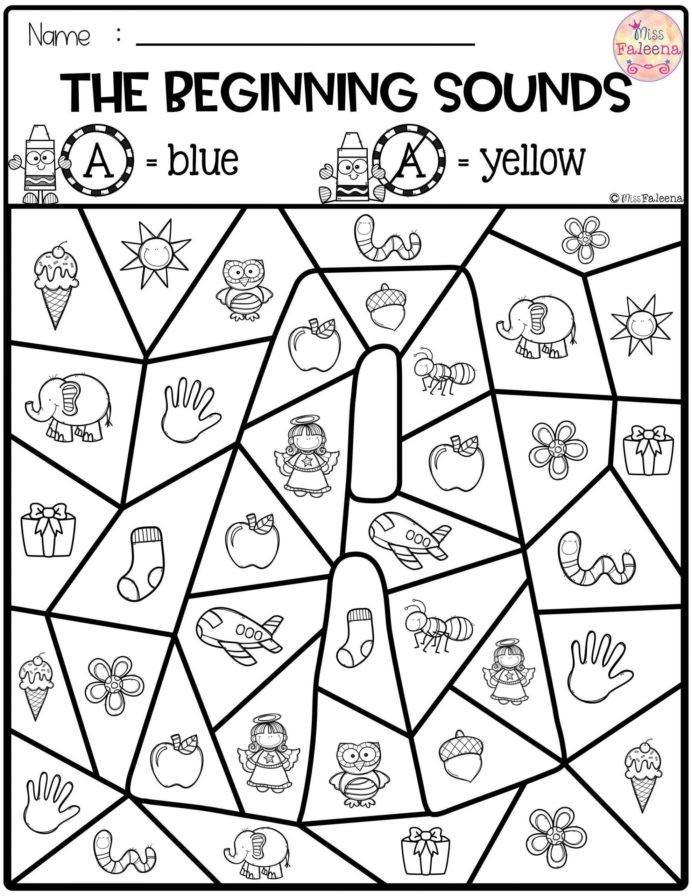 Worksheet Free Preschool Kindergarten Worksheets Beginning Phonics